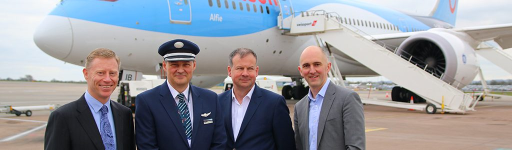 First ever 787 lands at Bristol Airport