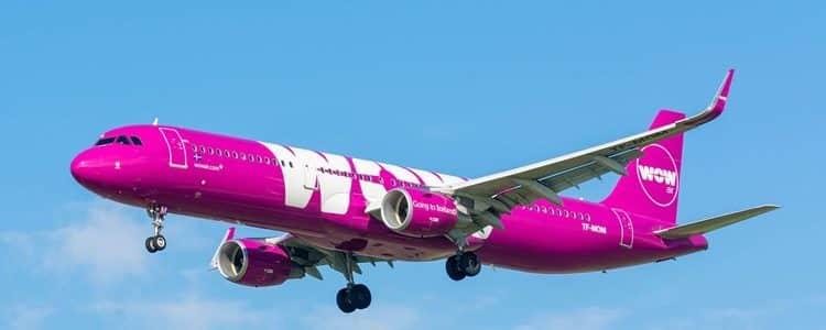 Wow Air inaugural flight to Bristol Airport