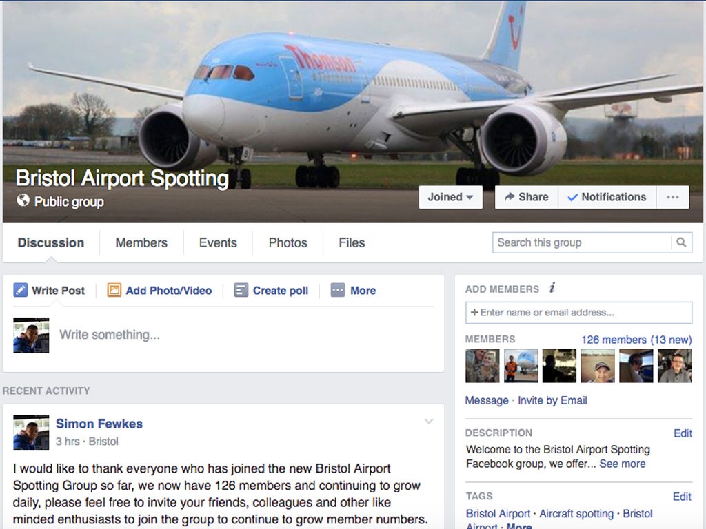 Bristol Airport Spotting Facebook Group