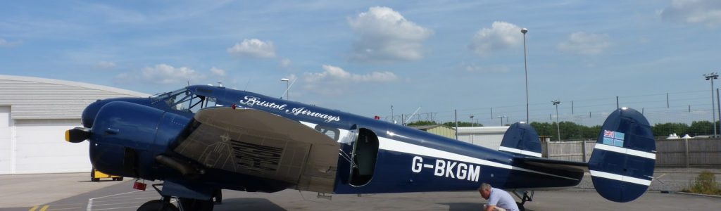Betty the Beech takes off from Bristol Airport