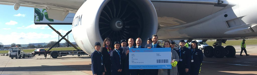 Bristol Airport celebrate inaugural TUI flight to Punta Cana