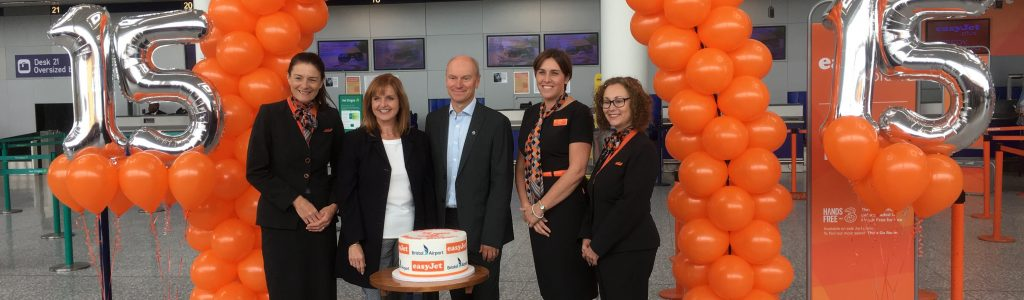 easyJet celebrates 15 years at Bristol Airport