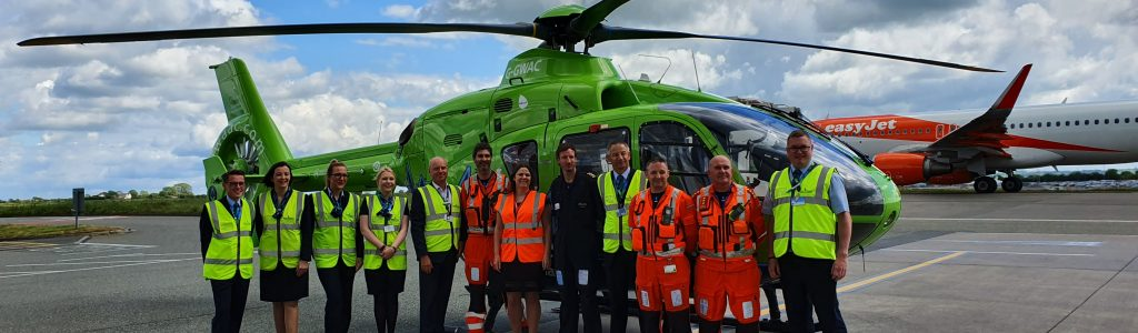 Great Western Air Ambulance Charity land partnership with Bristol Airport