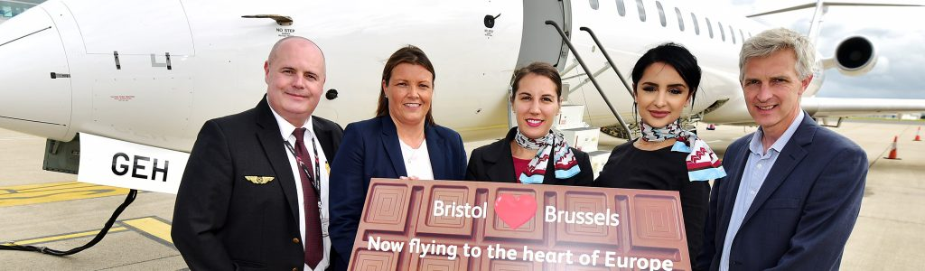 Brussels Airlines takes off from Bristol Airport