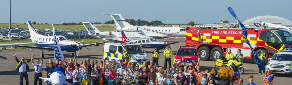 Bristol children receive respite in the sky with Air Smiles day at Bristol Airport